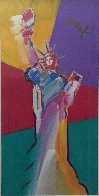 Statue of Liberty 2001 33x53 Super Huge Works on Paper (not prints) by Peter Max - 1