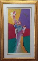 Statue of Liberty 2001 33x53 Super Huge Works on Paper (not prints) by Peter Max - 2