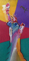 Statue of Liberty 2001 33x53 Super Huge Works on Paper (not prints) by Peter Max - 0