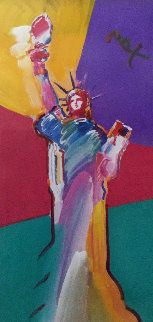 Statue of Liberty 2001 33x53  Works on Paper (not prints) by Peter Max
