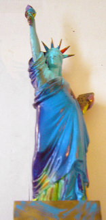 Statue of Liberty Bronze Sculpture 1990 22 in Sculpture by Peter Max