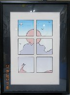 Landscape Through Window 1979 Limited Edition Print by Peter Max - 1