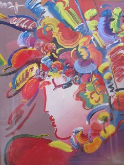 Blushing Beauty Unique 36x41 Works on Paper (not prints) by Peter Max