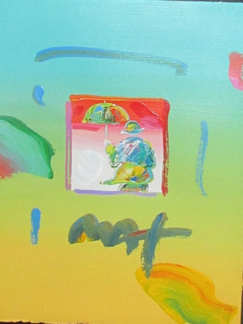 Umbrella Man 2006 8x11 Works on Paper (not prints) by Peter Max