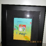 Umbrella Man 2006 8x11 Works on Paper (not prints) by Peter Max - 3