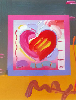 Heart on Blends Unique 2006  17x15 Works on Paper (not prints) by Peter Max