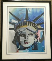 Liberty Head Unique 42x54 Super Huge Works on Paper (not prints) by Peter Max - 1