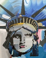 Liberty Head Unique 42x54 Super Huge Works on Paper (not prints) by Peter Max - 0