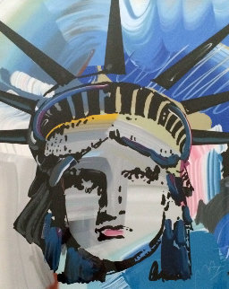 Liberty Head Unique 42x54 Works on Paper (not prints) by Peter Max