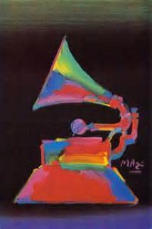 Grammy Unique 2003 20x16 Works on Paper (not prints) by Peter Max