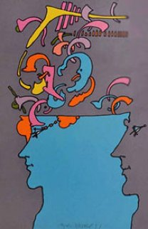 Hieroglyphic II 1971 Limited Edition Print - Peter Max