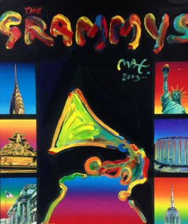 Grammys 2003 68x53 Original Painting - Peter Max