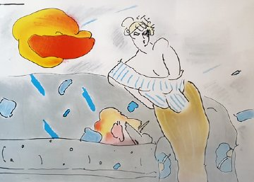 Semi Nude With Flower Zoople 1980 Limited Edition Print - Peter Max