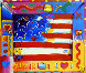 Flag With Heart II 2002 Limited Edition Print by Peter Max - 0