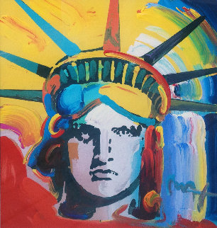 Liberty Head Unique 2003  24x24 Works on Paper (not prints) by Peter Max