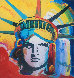 Liberty Head Unique 2003  24x24 Works on Paper (not prints) by Peter Max - 0