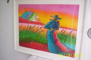 Walking in Reeds Limited Edition Print by Peter Max