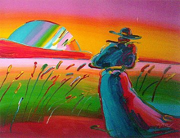 Walking in Reeds Limited Edition Print - Peter Max