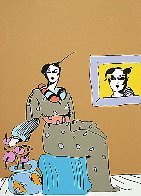 Lady With Picture 1978 Limited Edition Print by Peter Max - 0