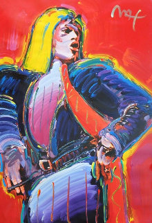 Mick Jagger   Unique 1988 41x30 Works on Paper (not prints) by Peter Max