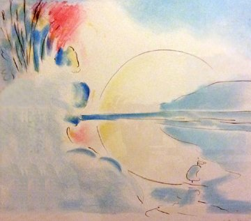 Red Sun 1978 Limited Edition Print by Peter Max