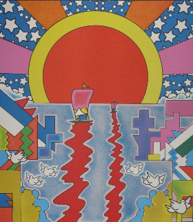 Sailing New Worlds Limited Edition Print by Peter Max