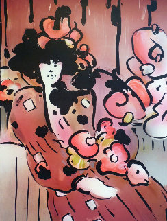 Brown Lady With Vase 1981 Limited Edition Print by Peter Max