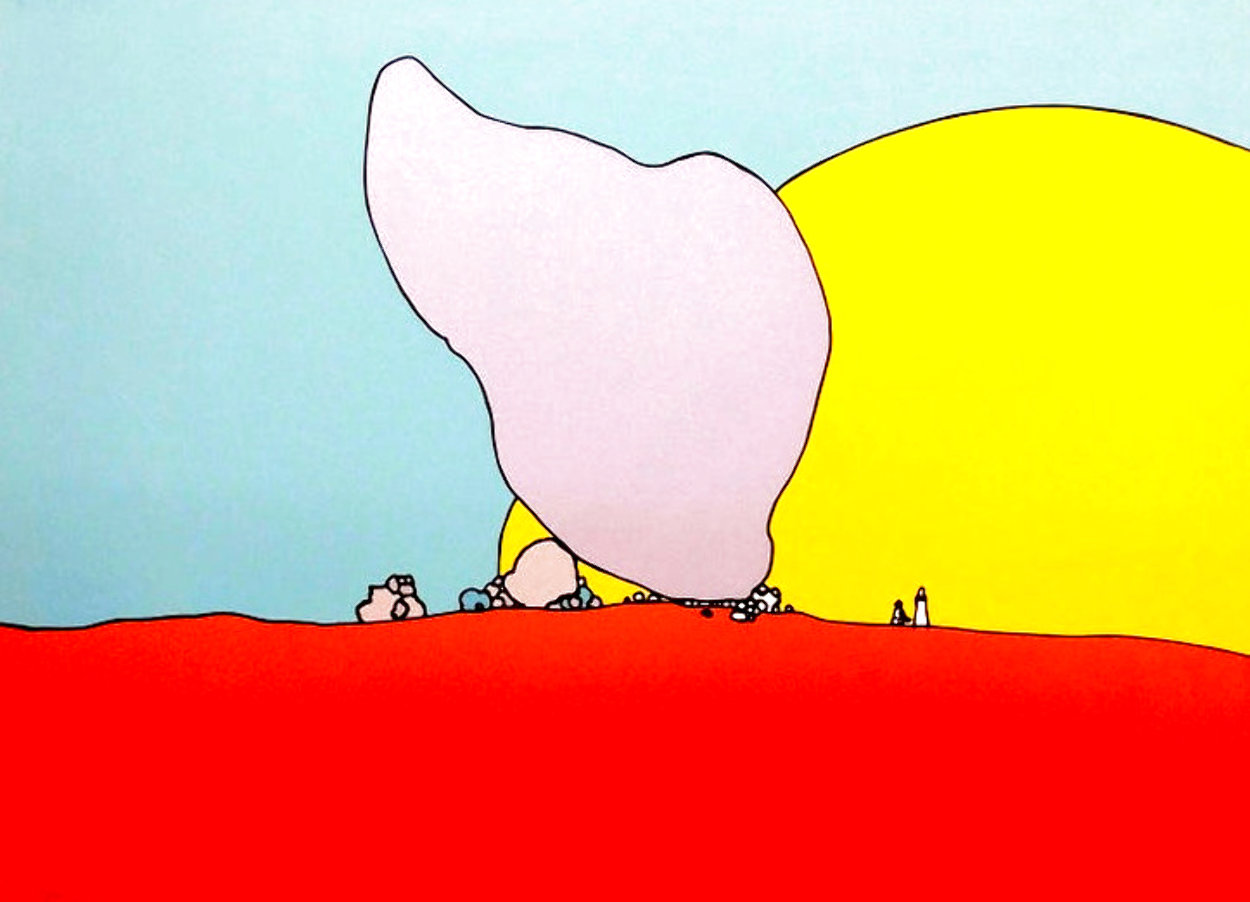 Rocks and Sun 1971 Limited Edition Print by Peter Max