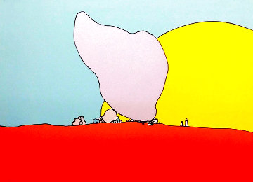 Rocks and Sun 1971 Limited Edition Print - Peter Max