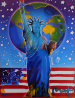 Peace on Earth 2 Unique 32x37 Super Huge Works on Paper (not prints) - Peter Max