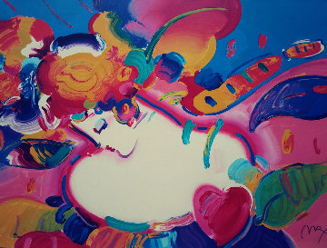 Flower Blossom Lady II Serigraph 1998 Limited Edition Print - Peter Max