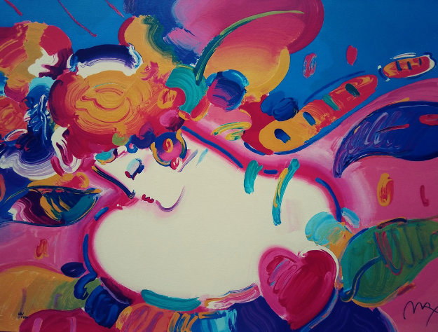 Flower Blossom Lady II Serigraph 1998 Limited Edition Print by Peter Max