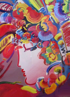 Blushing Beauty Unique 2002 36x42 Huge Works on Paper (not prints) - Peter Max