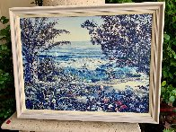 Untitled Seascape Embellished Limited Edition Print by Ruth Mayer - 1