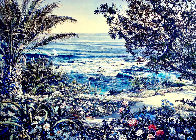 Untitled Seascape Embellished Limited Edition Print by Ruth Mayer - 0