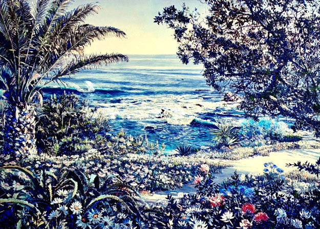 Untitled Seascape Embellished by Ruth Mayer