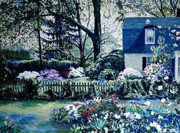 Shelly's Window 1985 Embellished Limited Edition Print by Ruth Mayer