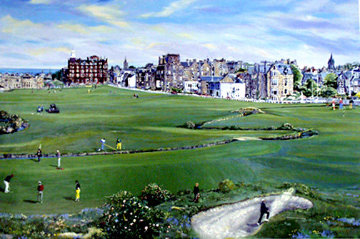 Saint Andrews Golf Course PP Limited Edition Print by Ruth Mayer