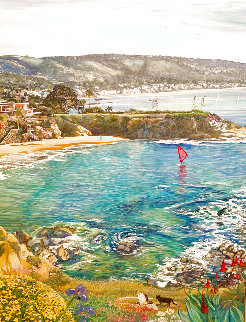 Vista Pointe Laguna Beach 61x41 Super Huge Original Painting - Ruth Mayer