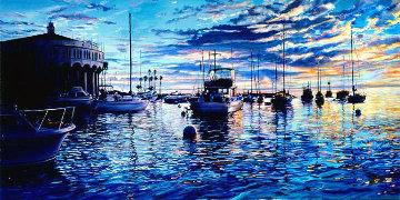 Catalina Heaven 2004  36x58 Huge Original Painting - Ruth Mayer