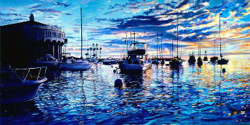 Catalina Heaven 2004  36x58 Super Huge Original Painting - Ruth Mayer