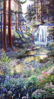Waterfall Limited Edition Print by Ruth Mayer