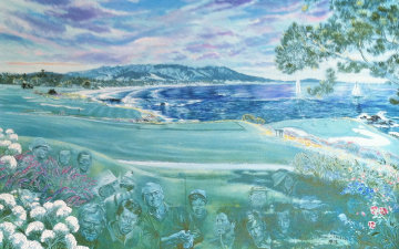 Legends at Pebble Beach Limited Edition Print by Ruth Mayer