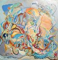Love 1978 42x42 Original Painting - Ruth Mayer