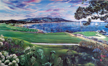 Legends of Golf Pebble Beach, California Limited Edition Print by Ruth Mayer