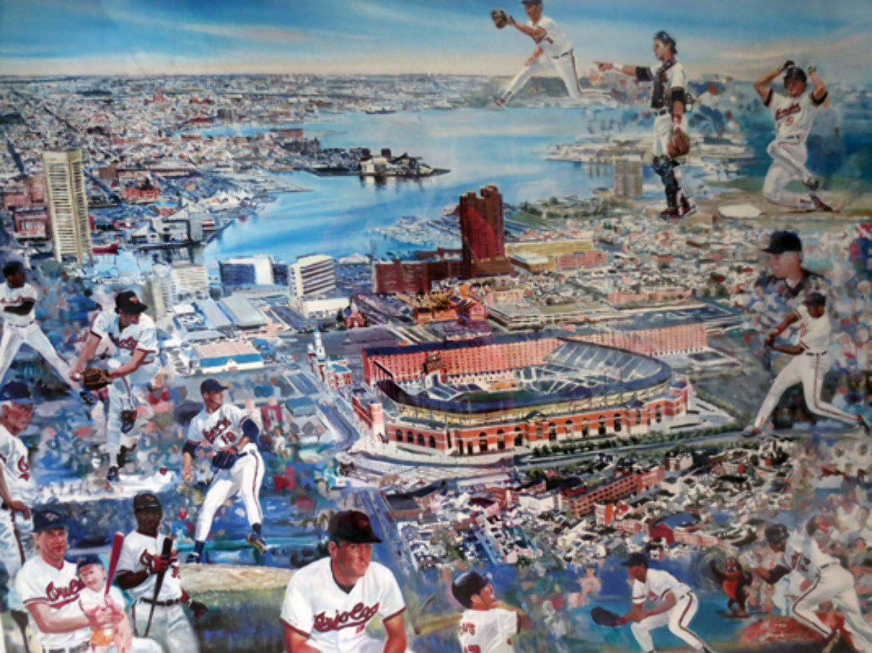 Camden Yards, Baltimore, Md 1998 Limited Edition Print by Ruth Mayer