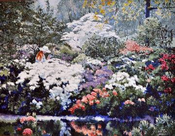 Artist Garden 2003 Embellished Limited Edition Print - Ruth Mayer