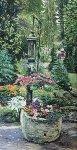Garden Pump 1997 18x26 Original Painting - Ruth Mayer