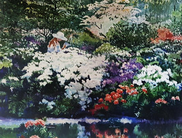Artist's Garden 1980 Limited Edition Print by Ruth Mayer