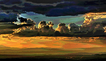 Clouds Over Santa Fe AP 2014 Limited Edition Print - Les Mayers